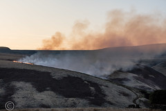 Marsden Moor fire Easter 2019 (1) (Mark Schofield @ JB Schofield) Tags: reservoir water peat moorland bog moss agriculture yorkshire huddersfield wessenden head pule buckstones scammonden royd edge valley holme colne marsden meltham digley march haigh west nab deer emley mast thenationaltrust helicopter heliliftservices fire burn douse bomb n35eh