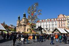 Prague Easter Market (littlestschnauzer) Tags: prague easter market 2019 spring april stalls centre historic tourists tourist destination visit tree buildings