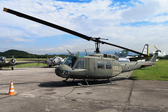 FAB8668 Former Brazilian Air Force Bell UH-1H Iroquois at the Museo Aerospacial Campo Dos Afonsos Rio De Janeiro on 16 April 2019 (Zone 49 Photography) Tags: aircraft airliner helicopter airplane aeroplane preserved museum april 2019 sbaf riodejaneiro brazil campo afonsos airport airbase campodosafonsos museo aerospacial museoaerospacial brazilian airforce brazilianairforce forca aerea brasileira focraaereabrasiliera bell uh1h uh1 iroquois fab8668 8668