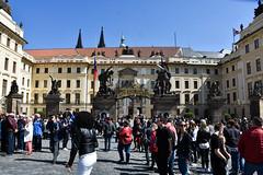Prague Castle (littlestschnauzer) Tags: prague castle front busy tourists noon april visit guard 2019 destination tourist