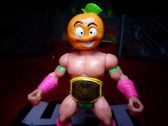 Hardcore Bruiser - Orange (ridureyu1) Tags: btw wrestling battletribes thesavagerealmofbattletribes spymonkeycreations glyoscompatible toy toys actionfigure toyphotography sonycybershotsonycybershotdscw690
