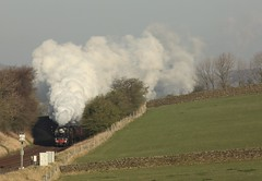 Long Preston (Jacobite52) Tags: 48151 35018 bil train britishindialine railway mainlinesteam steam wcrc lms southern