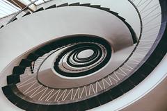 Round About - Explore # 491 (**capture the essential**) Tags: 2017 architecture architektur fotowalk munich münchen sonya6300 sonyilce6300 spiral staircase stairs treppen treppenhaus zeisstouit2812 zeisstouitdistagon2812