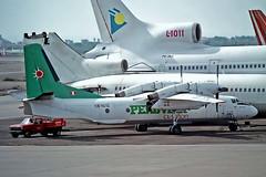OB-1610   Antonov An-32B [32-02] (Peruvian Aviation) Lima-Jorge Chavez Int'l~OB 04/02/1997 (raybarber2) Tags: 3202 alpechacollection cn3202 filed flickr negative ob1610 peruviancivil planebase propliner spim