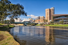 River Torrens (Anthony Kernich Photo) Tags: adelaide adelaidecbd adelaideparklands southaustralia sa australia reflection river rivertorrens riverfront water waterway scenic green afternoon olympus olympusem10 olympusomd microfourthirds lumix city cityscape urban park tree reflect ndfilter landscape seascape day