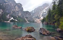 A misty scene at Lago di Braies (Atilla2008) Tags: lagodibraies pragsee braies italy dolomites lake scene travel d90 nikon italia
