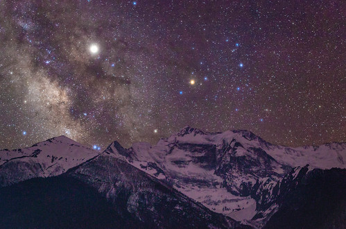 Night's sky over Annapurna Peak I