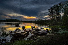 Sunset On The Fishing Boats (Brad Prudhon) Tags: 2019 april bost chickahominylake edallenscampground fishing lenexa virginia water clouds sunset