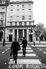 Look Right (Foto John) Tags: leica leicammonochrom246 leicammonochromtyp246 rangefinder streetphotography blackwhite blackandwhite blackandwhitethatsright monochrome people men architecture buildings 18mm wideangle superelmarm18mmƒ38asph cropped zebracrossing london uk