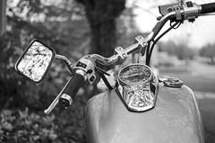 Weather Permitting (aaron_gould) Tags: outside design nikkor art bw blackandwhite bike motorcycle honda d7000 35mm monochrome steel metal chrome l