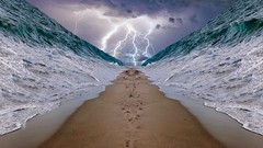 Crossing the Red Sea (Iforce) Tags: crossing red sea commandments moses bible landscape wallpaper lightnings god split exodus clouds n1ipm moises seascape water art awardtree partition