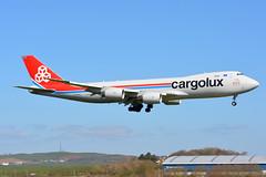 LX-VCJ Cargolux Boeing 747-800 EGPK 10/4/19 (David K- IOM Pics) Tags: egpk pik glasgow prestwick airport lx lxvcj boeing 747 747800 b748 clx cargolux