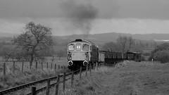Climbing away (Duck 1966) Tags: 33102 foxfieldrailway emrps class33 diesel locomotive crompton