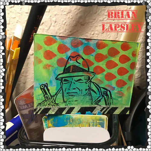 Distress Tracy #craft #brianlapsley #make #rubberstamp #comicbook #paint
