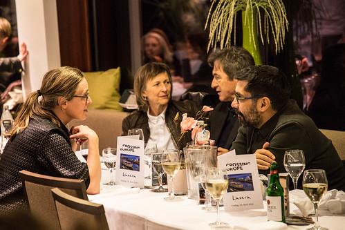 CE19 - boat trip // Katharina Weinberger-Lootsma (Local Artist Jury), Gabriela Bussmann (prod. PUTIN´S WITNESSES), Jean Perret (Competition Fiction Jury), Mahmut Fazil Coşkun (Competition Fiction Jury) //   photo © Christoph Thorwartl / subtext.