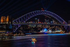 sydney harbour bridge (Greg M Rohan) Tags: vividsydney vivid longexposure nightphotography laser laserlights lights nightlights night skyline water sydneyharbour harbourbridge sydneyharbourbridge sydney australia bridge d750 2018 nikon nikkor シティ