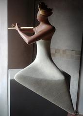 Suonatrice di flauto (alejandrabassoph) Tags: scultura arte citerna gianfrancogiorni alejandrabasso fotografia catalogo esposizione