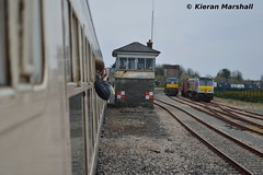 Claremorris, 13/4/19 (hurricanemk1c) Tags: claremorris 1425ballinaclaremorris railways railway train trains irish rail irishrail iarnród éireann iarnródéireann 2019 generalmotors gm emd 201 enterprise northernirelandrailways nir 8209 0935northwallballina iwtliner industrialwarehousingandtrading