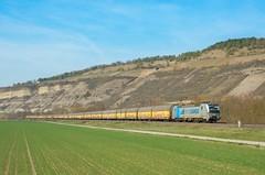 RTB Cargo 193 816, Thüngersheim (Sander Brands) Tags: trein treni train treno trenuri trenuro traktion züg güterzug vectron siemens strecke spotten shuttle sun sky maintal maindal nikon d7000