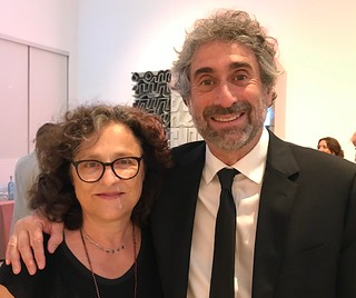 Rachelle and Mitch Kaplan at the Lowe Museum's Evening of Art fundraiser where Mitch was awarded the 2019 Community Champion award