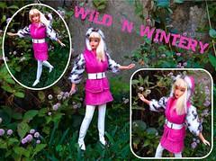 WILD 'N WINTERY (ModBarbieLover) Tags: wild wintery 1971 barbie doll mattel mod pink fur croc white blonde living 1970 outdoors backyard fashion