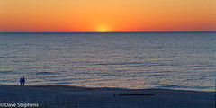 Sunrise At Fernandina Beach (dcstep) Tags: beach fernandinabeach florida fl usa sony handheld allrightsreserved copyright20190davidcstephens dxophotolab dsc6987dxo sunrise dawn morning glow red blue person walking