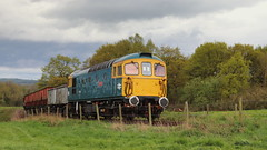 Coal on the move (Duck 1966) Tags: 33102 crompton type3 foxfieldrailway emrps diesel locomotive coal wagons