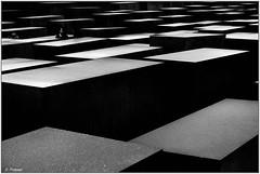 Berlin  DSC05523 (stefanprassel) Tags: bw berlin sw germany deutschland denkmalfürdieermordetenjudeneuropas blackandwhite black white schwarzweiss weiss