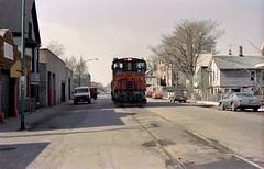 Milwaukee Road on Lakewood 4-24-86 21 (jsmatlak) Tags: chicago railroad train milwaukee road freight switcher branch lakewood ce