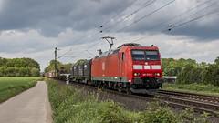 DBC 185 079-1 storming through Meerbusch (Nicky Boogaard) Tags: krefeld germany deutschebahn deutschland railroadphotography dmrailroad dmrailway railway railfan railfanning meerbusch dbcargo db br185 1850791