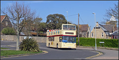 Stagecoach 17528 (Jason 87030) Tags: royalesplanade boatingpool fun trident dennis alx400 kent route service 69 topless pentop topdeck doubledecker cream maroon livery nice pair duo special thanet uk england easter