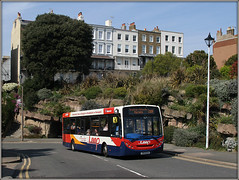 Stagecoach 36867 (Jason 87030) Tags: stagecoach southeast eastkent e200 enviro red white blue orange livery special thanet loop ramsgate service routemadira walk hill roadside april 2019 shot hoot sunny lighting session canon bus wheels round windows public travel transportation kent transport