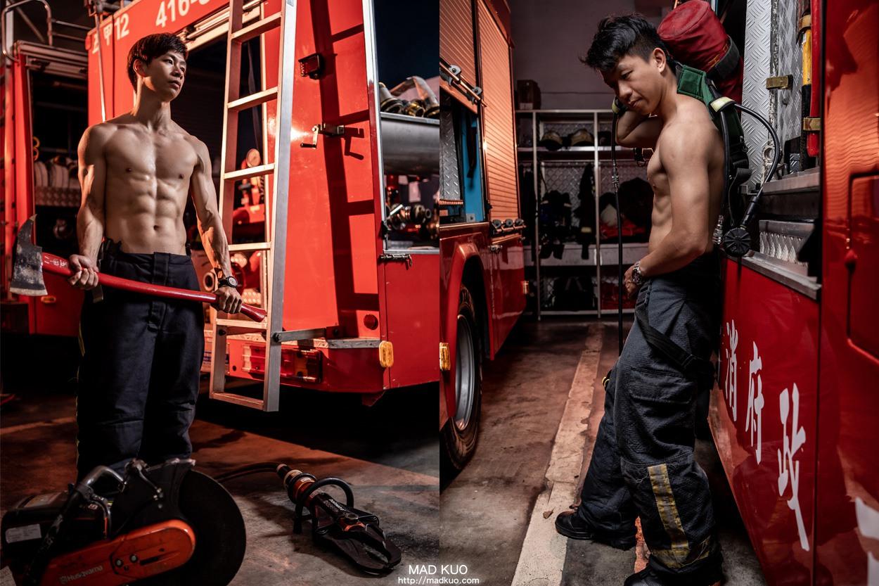 猛男消防月曆,消防形象