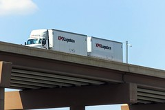 over the top (MoparMadman63) Tags: truck doubletrailers trailer bridge freeway overpass outdoors viewpoint highrise megastructure city dallastx texas travel transportation vehicle