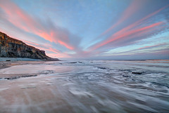 """ V "" (Wiffsmiff23) Tags: heritagecoastlinesouthwales traethmawr traeth beach southwales reflections reflection dramatic sunrise"