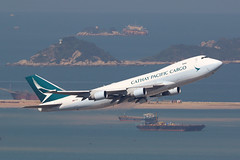 B-LIA, Boeing 747-400ERF, Cathay Pacific, Hong Kong (ColinParker777) Tags: cathay pacific cx cpa vhhh hkg airlines airways ltd chek lap kok hong kong airport takeoff boeing 747 744 747f 747400f 747400erf 744erf jumbo freighter freight rubber dogshit sunny sea atc tower control plane airplane aircraft gear engines flying flight fly jumbojet canon photo photography 7d 7d2 7dii 7dmkii 7dmk2 200400 zoom telephoto lens pro l aviation spotting spotters jet cargo airliner air barge
