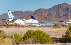 Pheonix Goodyear Boneyard (Mark_Aviation) Tags: pheonix goodyear boneyard airport storage scrap corsair 747300 fgsky american md82 n451aa vietnam airlines skyteam a330200 vna371 2aerd 30062018 747 a330 boeing airbus md80