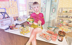 Snack Haul (Gabriella Marshdevil ~ Trying to catch up!) Tags: sl secondlife cute kawaii doll randommatter taketomi epiphany spiritstore ionic junkfood