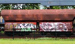 Graffiti on Freights (wojofoto) Tags: amsterdam nederland netherland holland graffiti streetart cargotrain vrachttrein freighttraingraffiti freighttrain freights fr8 wojofoto wolfgangjosten ash echo