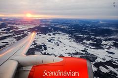 Sunset flight (A. Wee) Tags: sas 北欧航空 scandinavianairlines arlanda sweden 瑞典 sunset 日落