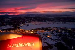 Flight towards Östersund (A. Wee) Tags: sas 北欧航空 scandinavianairlines 飞行 flying dusk brunflo scandinavia sweden 瑞典