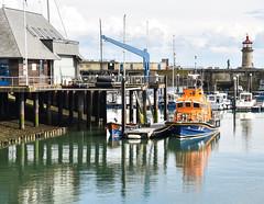 Ramsgate lifeboat (philbarnes4) Tags: ramsgate ramsgatelifeboat thanet kent harbour ramsgateharbour england philbarnes water reflection nikon nikond5500 boat vessel beacon coast coastal mooring