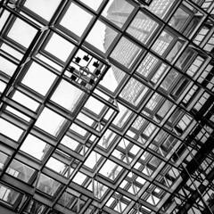 Fountain, IDS Center, Minneapolis 4/27/19 #monochrome (Sharon Mollerus) Tags: minneapolis mn cfptig19