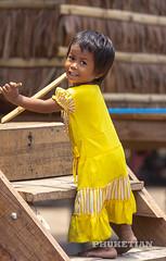 Portrait of Moken tribe girl, Surin island, Andaman sea, Thailand (Phuketian.S) Tags: portrait girl child moken tribe happy village seagypsies yellow thailand surin island nature портрет абориген девочка ребенок племя морскиецыгане сурин остров phuketian wildlife nationalgeographic beautiful pretty young baby
