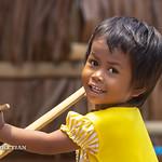 Portrait of Moken tribe girl, Surin island, Andaman sea, Thailand thumbnail