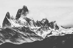 Fitz Roy, Patagonia (davidpineros.com) Tags: mountain nature snow winter argentina patagonia andes fujifilm fuji xe1 xt1 xt2 xe3 range blackwhite blackandwhite landscape wild south america david pineros piñeros