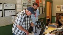 Press Adjustments (Jim Gard) Tags: historypark kelleypark printersfair wayzgoose printersguild letterpress printing