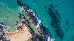 Striking (OzzRod (on the wallaby)) Tags: dji phantom3advanced drone quadcopter fc300s aerial vertical geology strike ordovicianmetasediments countryrock outcrops beach sea shoreline submerged cuttagee nswfarsouthcoast