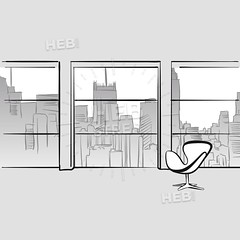 Empty office room (Hebstreits) Tags: background big bin boss building business cabinet cartoon ceo chair city clipart computer concept copyspace corporate creative design designer desk desktop display empty flat furniture graphic home illustration indoor inside interior job modern monitor office paper place professional room space store style table vector white window work workplace workspace