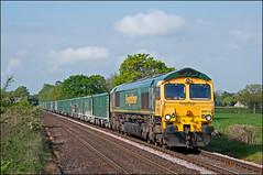 66613, Plumley (UK), 29/04/19 (bontybermo402) Tags: 66613 6m72 freightliner crewe tunstead mwa mma stone empty generalmotors